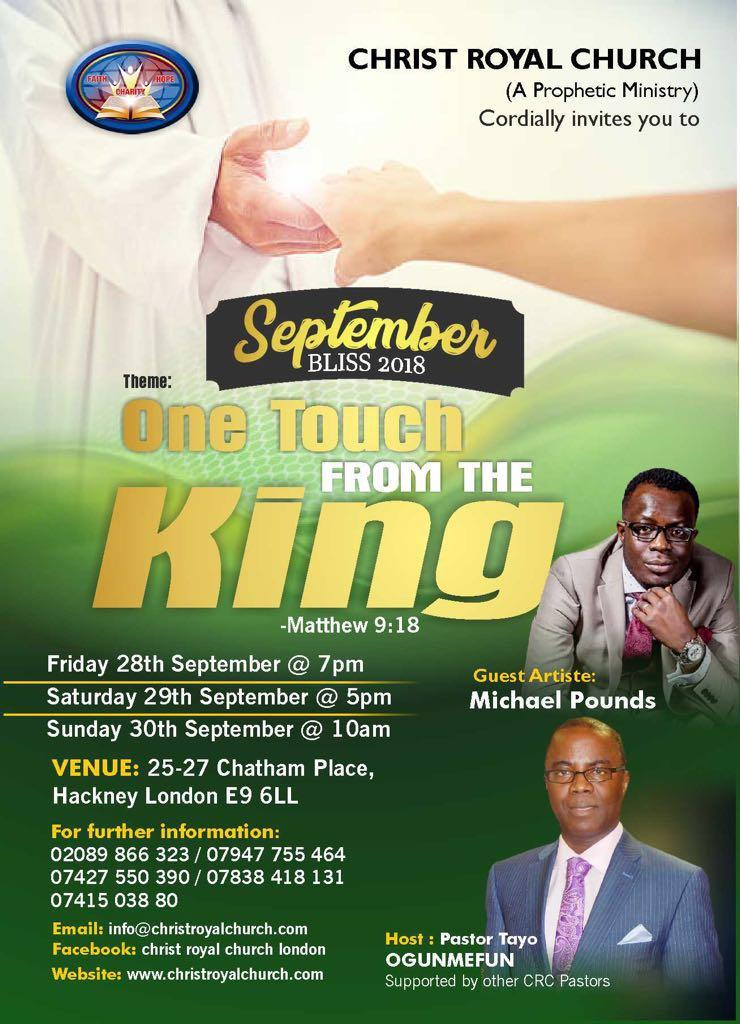 September Bliss - One touch from the King